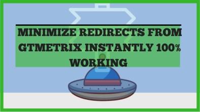 minimize redirects on gtmetrix