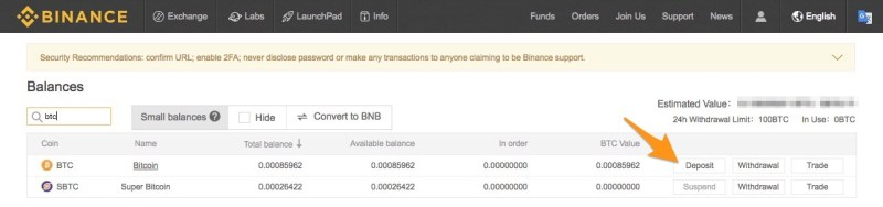send money from earn.com to binance