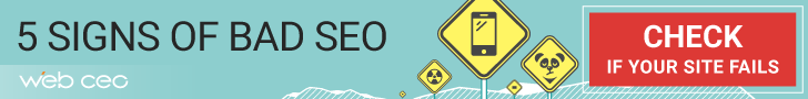 5 signs of bad seo with webceo