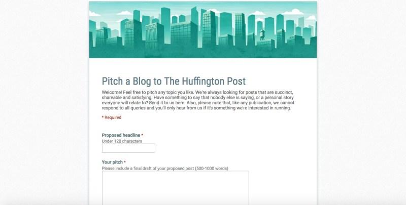 scrivi per l huffington post