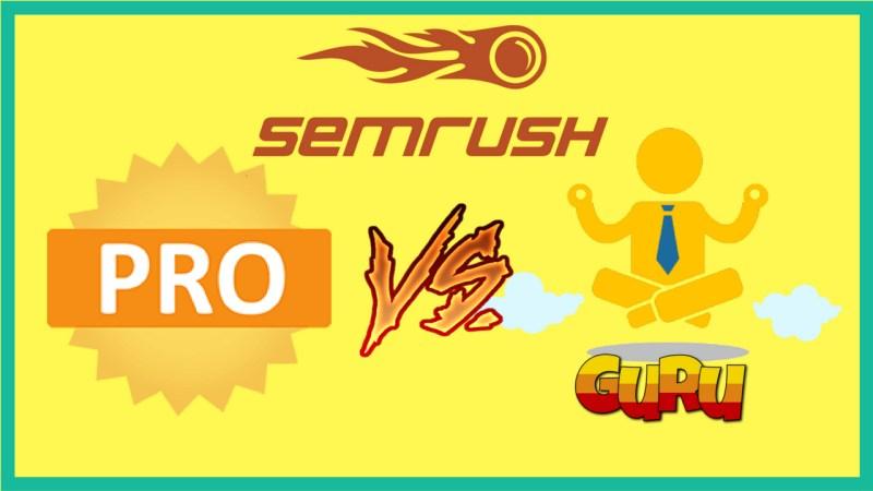 SEMrush PRO VS Guru | How Much Does SEMrush Cost | Marco Diversi