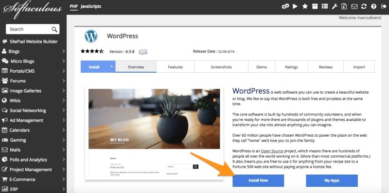 come usare wordpress 2