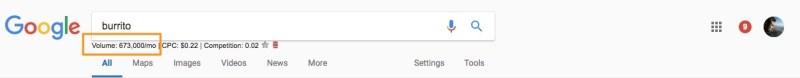 burrito search results on google