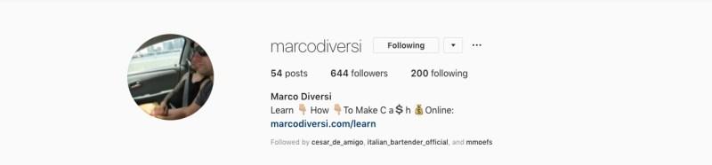 marco diversi pagina instagram