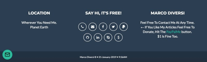 marco diversi footer
