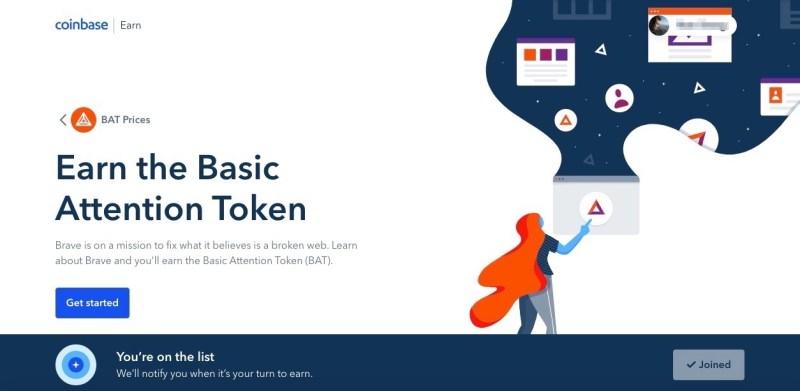coinbase learn and earn bat