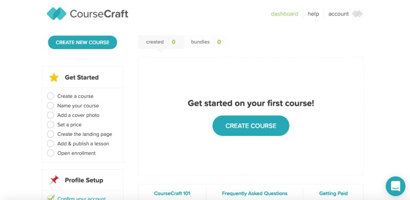 coursecraft per creare un corso online
