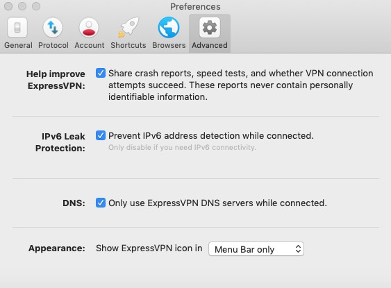 ExpressVPN Settings 6