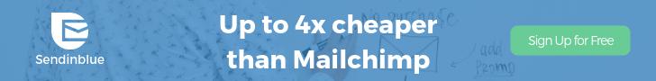 four times cheaper than mailchimp sendinblue signup
