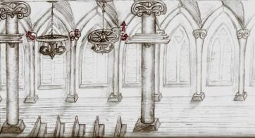 Vatican Infiltration Level 2 Concept Sketch