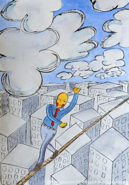 illustrazione da passeggio - quasi cielo - almost sky