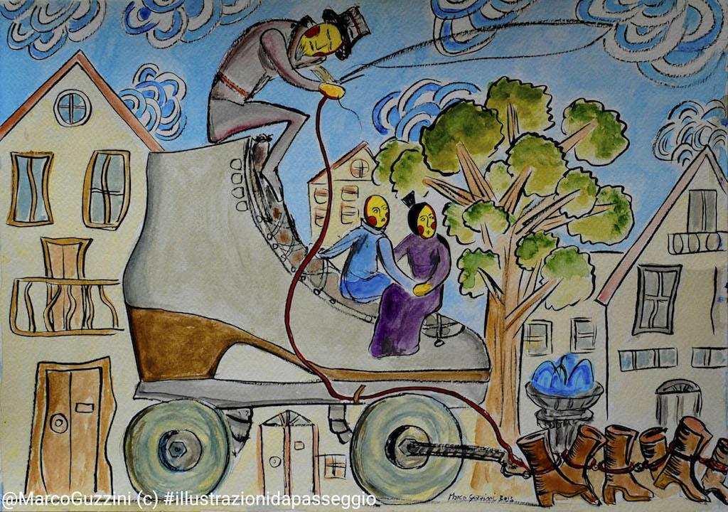 illustrazione da passeggio le favole di marco guzzini