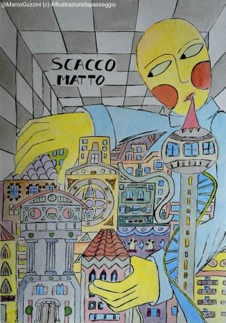 illustrazione da passeggio - breve racconto illustrato - scacco matto