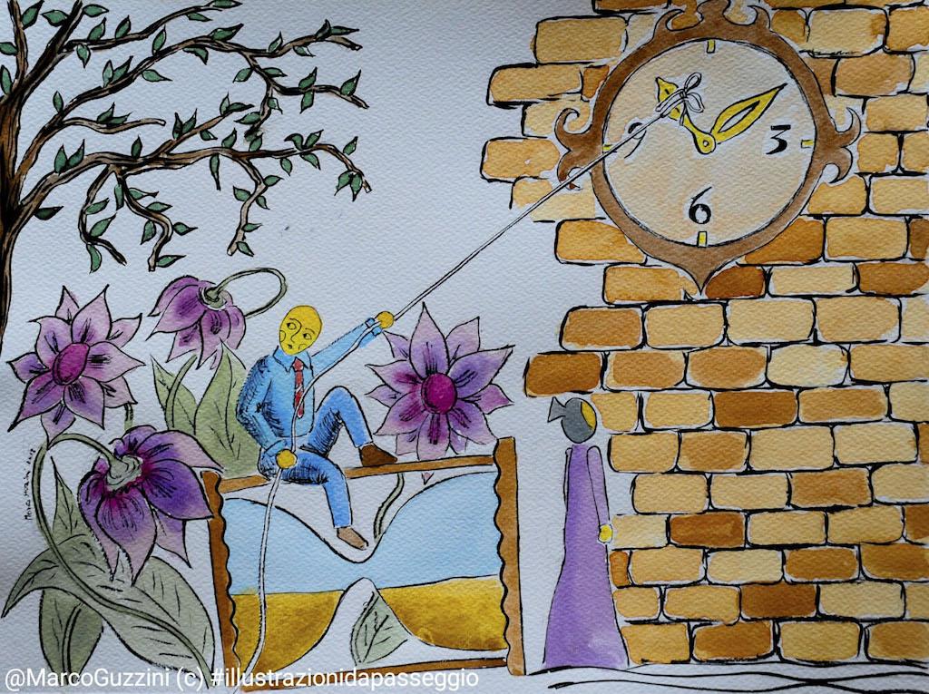 noi e il tempo Marco Guzzini illustrazione da passeggio