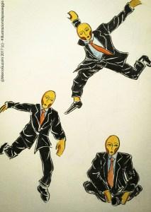 illustrazione da passeggio storia di un balzo