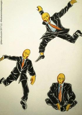 illustrazione da passeggio storia di un balzo - cosa ne pensate