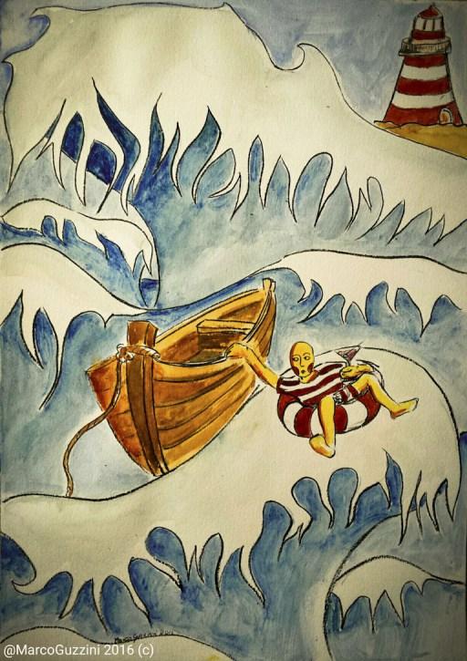 illustrazione da passeggio Marco Guzzini onde