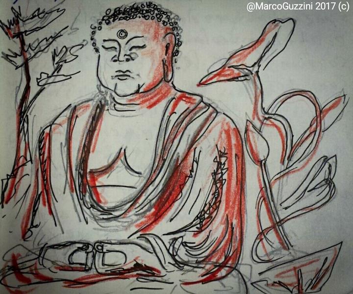 giappone- sketchbook statua grande buddah