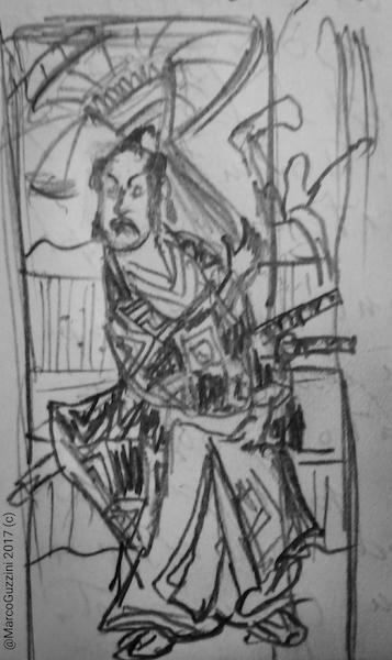 sketchbook giappone stampe samurai