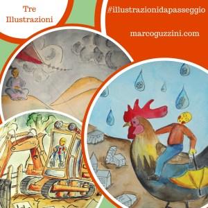 Copertina Tre Illustrazioni da Passeggio