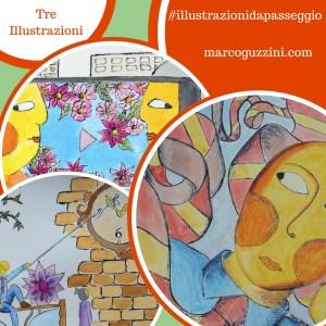 illustrazioni da passeggio Marco Guzzini Fantasia Racconti Album