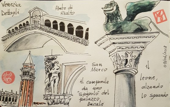 Ecco i miei appunti illustrati da un viaggio a Venezia , un giorno a Venezia