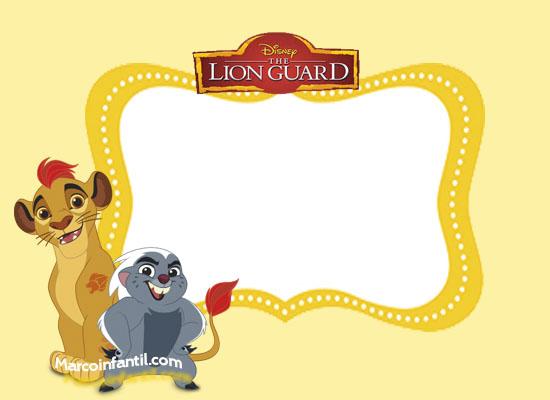 etiquetas de la guardia del leon