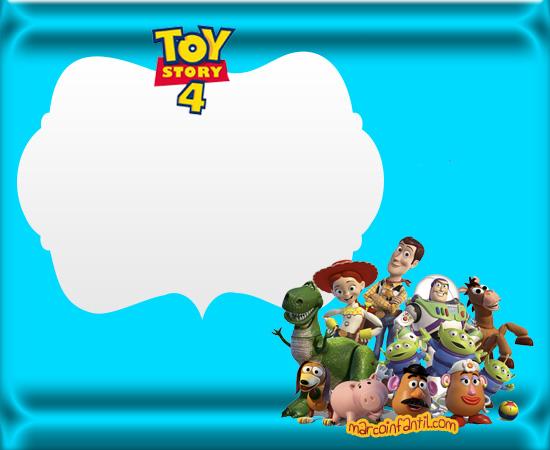 Tarjetas De Toy Story4 Toy Story 4 Invitaciones Cumpleaños