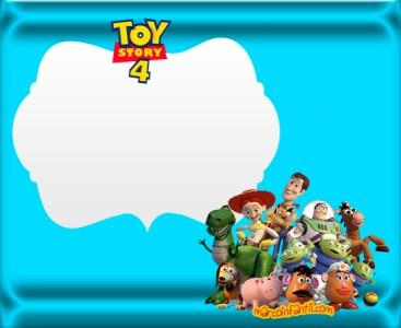 tarjetas de toy story4 - toy story 4 invitaciones cumpleaños-imprimibles toy story 4 -imagenes toy story 4