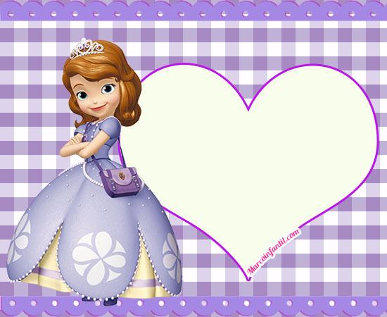 Invitaciones De Cumpleaños Princesa Sofia Marcos Infantiles