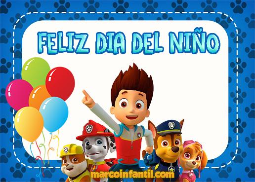 Imagenes con frase feliz dia del niño Marcos Infantiles