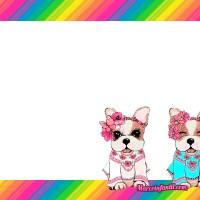 Marcos de Simones perritos -Sofía y Rodolfo