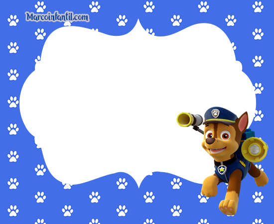Chase Paw Patrol frames