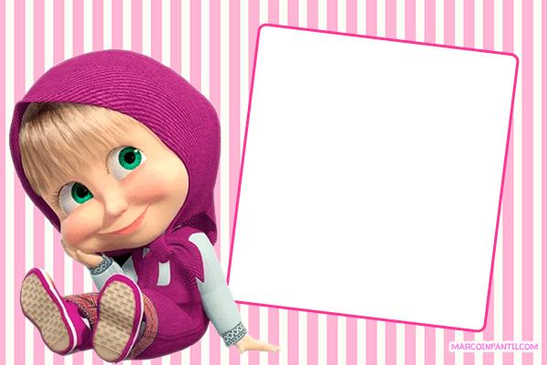Masha y El Oso Imagenes tarjetas marcos
