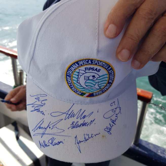 Cappellino autografato dalla Nazoinale Italiana