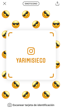 tarjeta identificacion de instagram