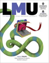 LMU Magazine Cover of Snake