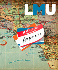 LMU Magazine cover for Spring 2019