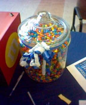 How many M&M's are in the jar? (2/4)