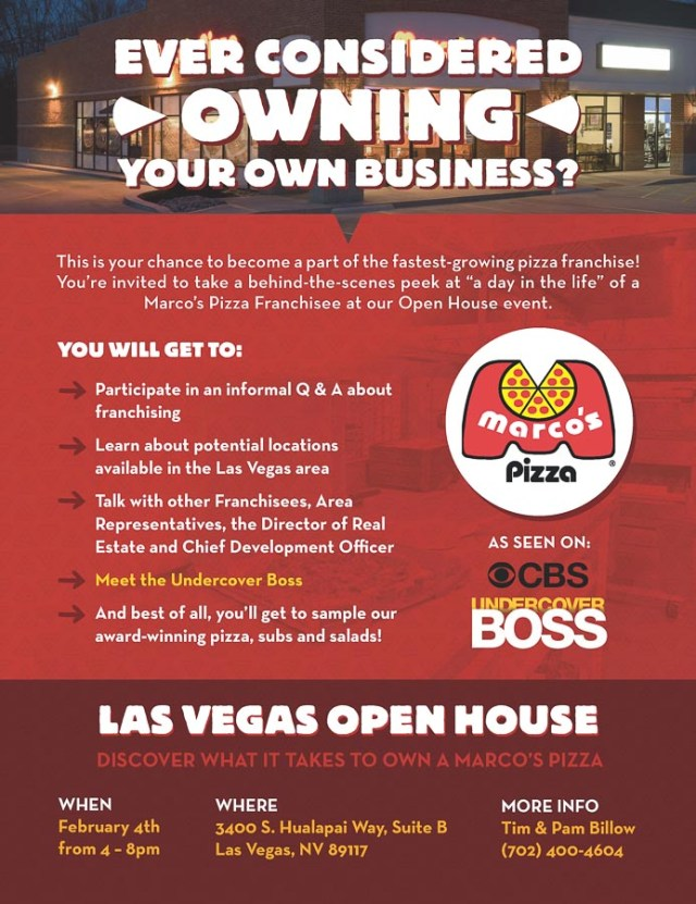 Marco\'s Pizza Franchise Invites Las Vegas Entrepreneurs to Open ...