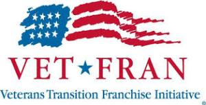 "An image of the VetFran logo, with ""Veterans Transition Franchise Initiative"" underneath."