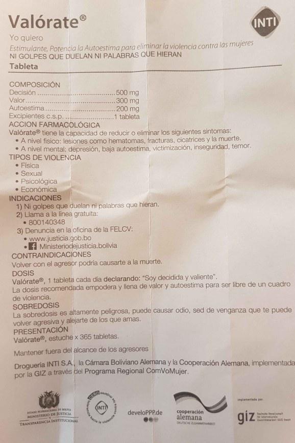 Posología Valorate