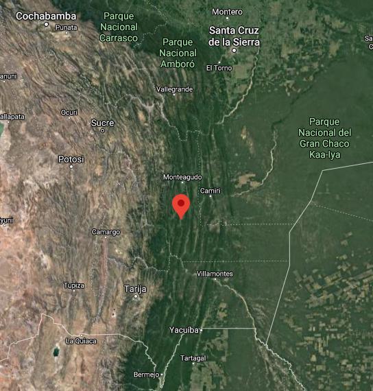 Mapa Guacareta