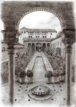 La Alhambra, el Generalife, Patio de la Acequia