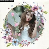 Mejores y más lindos marcos de fotos con flores
