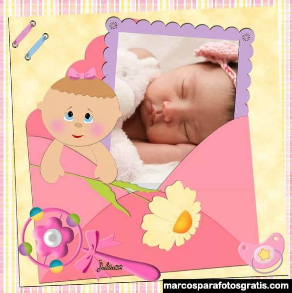 Marcos para fotos de bienvenido bebe niño niña