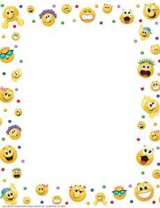 Marco para hoja emojis