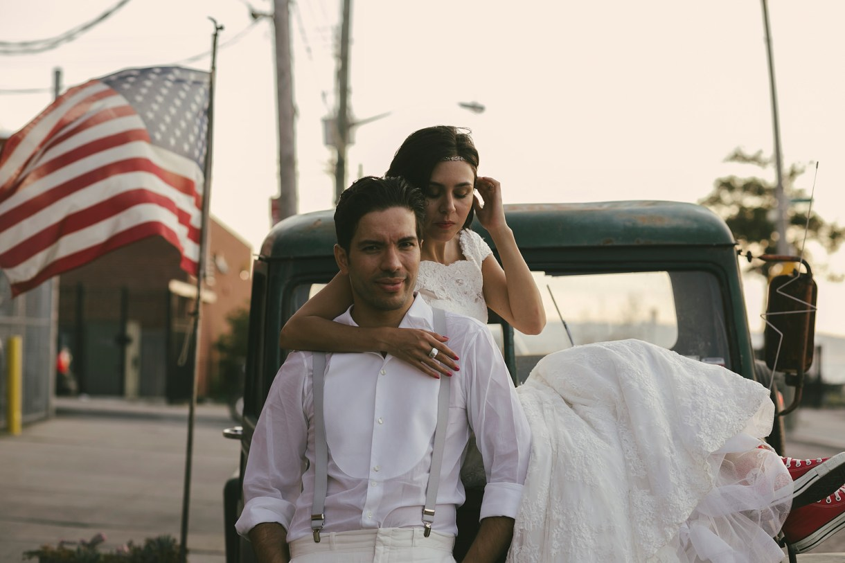 trash the dress at Red Hook, Brooklyn, New York. Destination Wedding Photographer Marcos Valdés