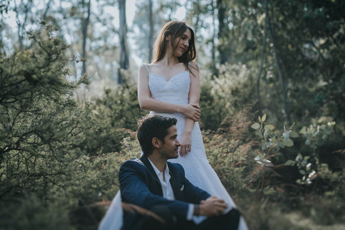 wedding photographer marcosvaldés|FOTÓGRAFO® Trash the Dress in the woods