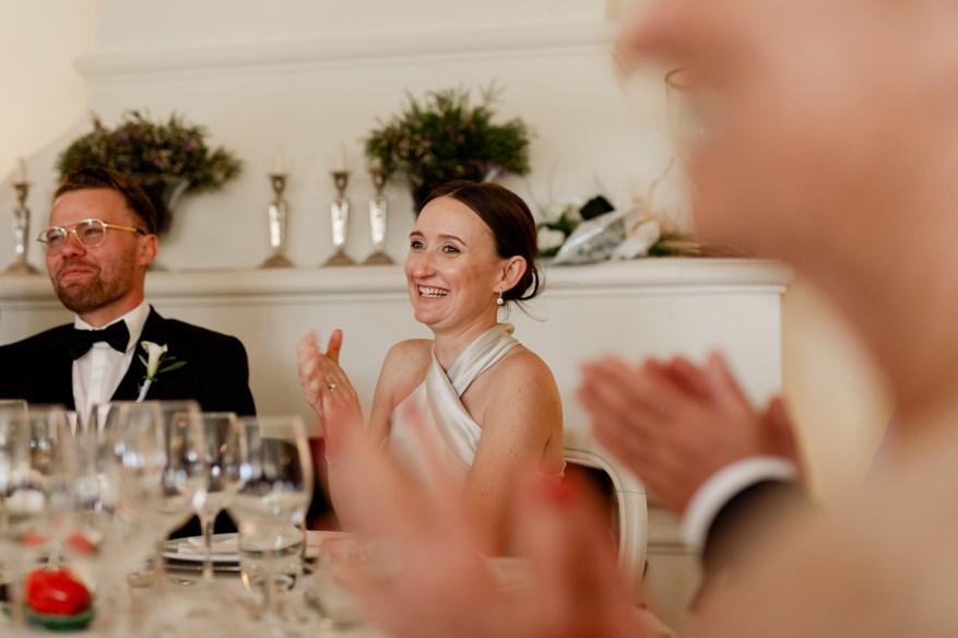 bride claps